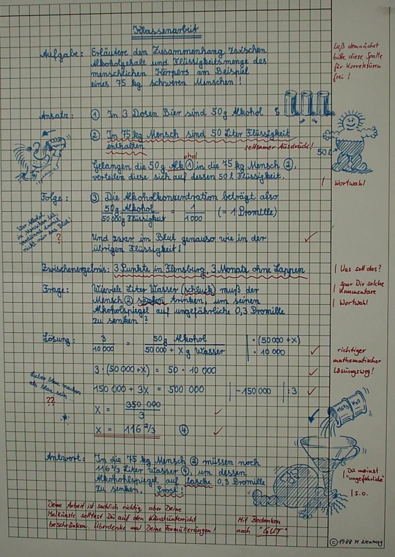 Charakterisierung auf Englisch schreiben Schule